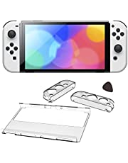 Clear Cover Case for Switch OLED, Dockable Soft Transparent Protective Case for Switch OLED with Anti-Scratch Detachable Design (Clear)