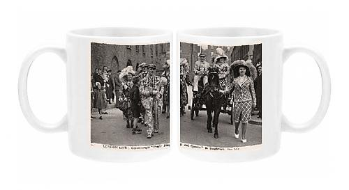 Pearly King Costume (Photo Mug of London Life Costermonger Pearly Kings and Queens, Southwark)