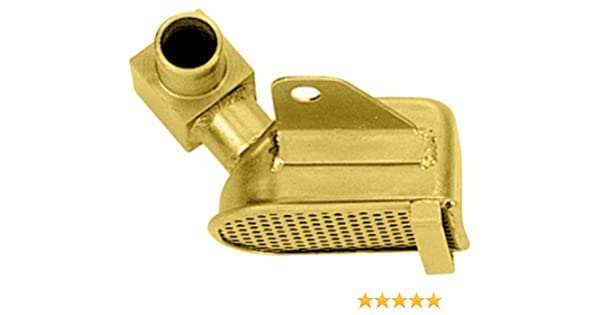Milodon 18375 Gold Zinc Plated Low Profile Oil Pan Pickup for Ford 302W