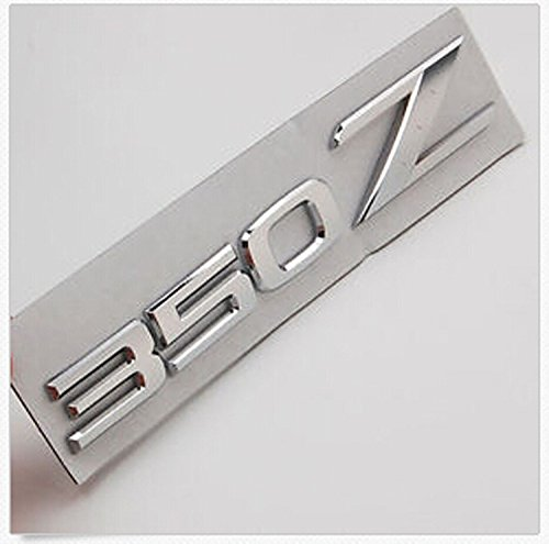 Salusy Auto Car Chrome 3D Silver ABS 350Z Emblem Badge for Nissan