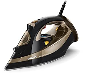 Philips GC4527/80 Azur Performer Plus Steam Iron with 220 g Steam Boost, 2600 W - Black and Gold