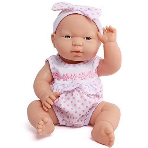 225bcd016322 Anmiya 13-Inch Silicone Soft Baby Doll Handmade Lifelike Vinyl Reborn Baby  Dolls Cute Toys for Girl Children Kids Educational Toy (Pink Polka Dot)