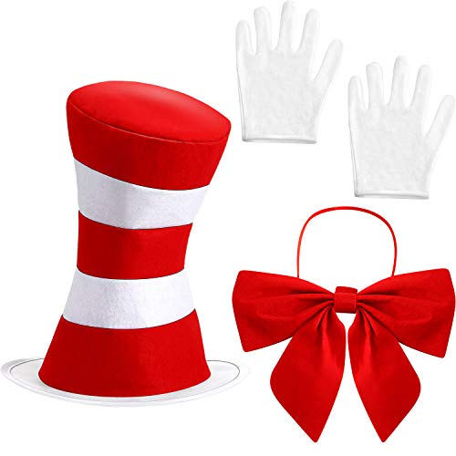 The Cat In The Hat Costumes Make It - 8 Pcs Top Hat Costume Red