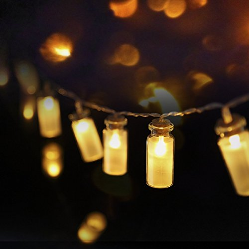 LED String light, Dailyart Vintage Clear Glass Jar Starry Light Mason Jar Fairy Lights, Perfect for Wedding, Patio, Garden, Christmas Party, Battery Operated, 7.2ft