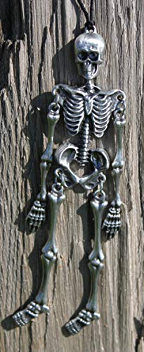 Hastings Pewter Company Lead Free Pewter Skeleton Dangle Decoration Made in Michigan]()