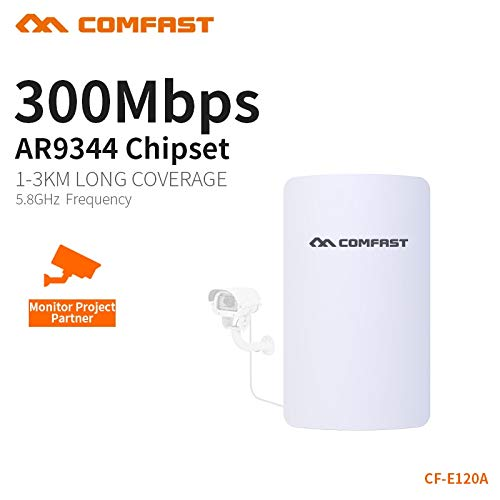 Comfast 300Mbps 5.8Ghz Outdoor Access Point 11dBi WI-FI Antenna Mini Wireless Bridge CF-E120A WiFi CPE Nanostation