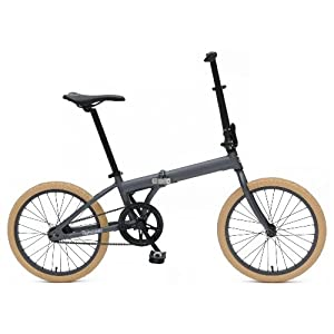 Retrospec Bicycles Speck Folding Single-Speed Bicycle, Graphite, 20-Inch