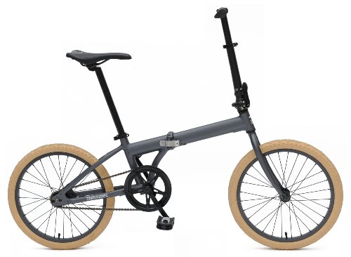 Retrospec Bicycles Speck Folding Single-Speed Bicycle, Graphite, 20-Inch (Brompton Bicycle Folding)