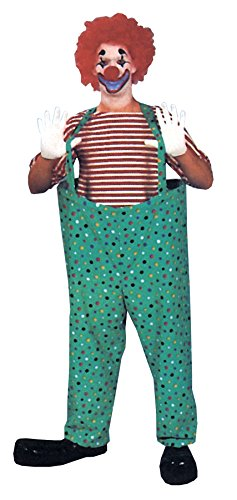 UHC Men's Lifesize Hooped Clown Pants Set Adult Halloween Costume Haunted House, OS (Clown Pants)
