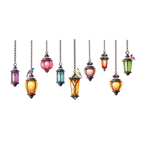 Tantisy ♣↭♣ Exotic Chandelier ☑ Creative DIY Removable Vinyl Decal Art Mural Home Decor Wall Window TV Background Stickers from Tantisy ♣↭♣ Home & Garden
