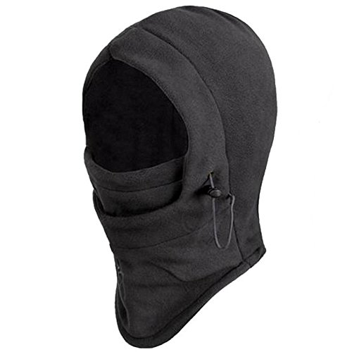 Outop 6 in 1 Thermal Fleece Balaclava Hood Police Swat Ski B