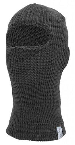 [TopHeadwear Face Ski Mask 1 Hole, Charcoal] (Sub-zero Costume)