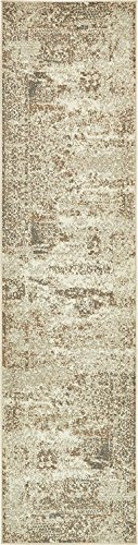 Unique Loom Tuareg Collection Vintage Distressed Traditional Cream Runner Rug (3′ x 10′) Review