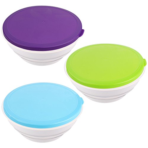 Collapsible-Dog-Bowl-with-Lid-2-Pk-Portable-Travel-Food-and-Water-Pet-Bowl-by-bogo-Brands-3-Colors