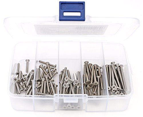 - iExcell 100 Pcs M3 x 20mm / 25mm / 30mm / 35mm / 40mm Stainless Steel 304 Hex Socket Flat Head Cap Screws Kit