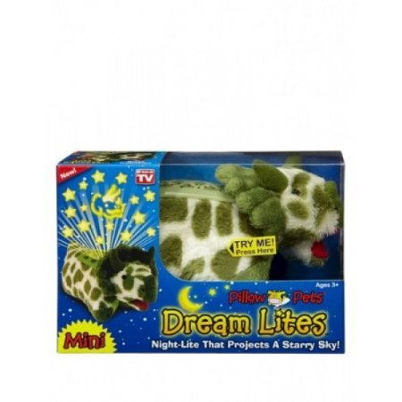 Pillow Pets Dream Lites Mini - Green Triceratops