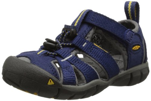 KEEN Unisex-Child Seacamp II CNX-C, Blue Depths/Gargoyle, 8 M US Little Kid
