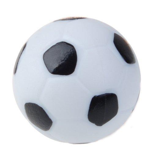 Eoamlk Balón de fútbol de plástico, 35 mm, color negro y blanco ...