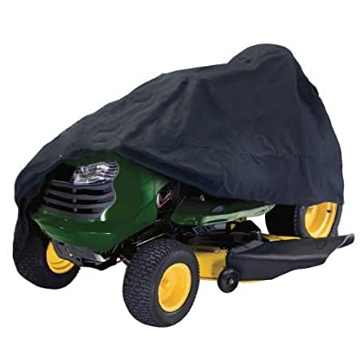 """Lawn Tractor Mower Cover 96"""" x 19"""" x 55"""" Waterproof Black 210D Oxford Cloth Protection Cloth \ Shelter Protective Water Resistant Top Conceal Lid Coat Covering Layer Sheet Accessories Gear"""
