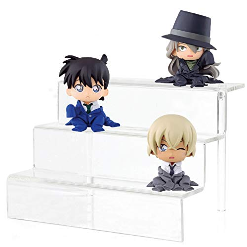 CY craft Acrylic Riser Stand Shelf,3 Steps Display Shelf for Amiibo Funko POP Figures,Cupcakes or Any Other Toys and Knickknacks,Great Countertop Decoration and Organizer,9x6.25x6 in Clear,Pack of 1