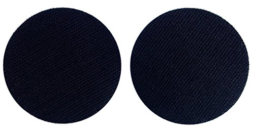 Hook Fastener Black Round Sets - Die Cut for Patches - Military and Police 3 Inch Diameter