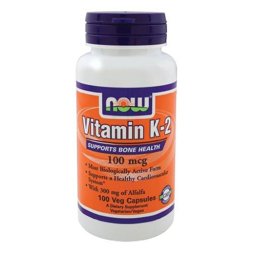 NOW Foods Витамин K-2,100mcg, 200 Vcaps (100 х 2)