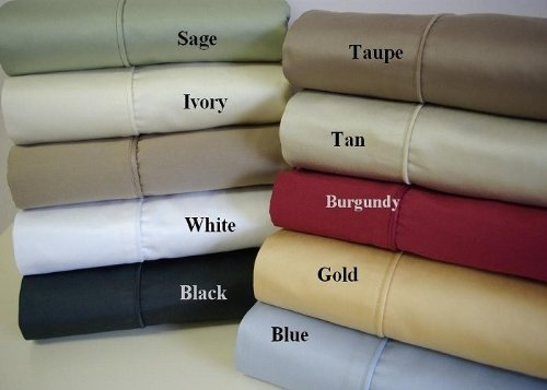 "028400071888 - Stripe Gold 300 Thread Count Twin XL Twin Extra Long Sheet Set 100 % Egyptian Cotton 3pc Bed Sheet set (18"" Deep Pocket) By Luxury Egyptian Cotton carousel main 1"