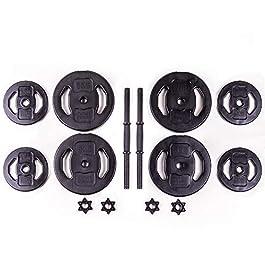 MuscleSquad Adjustable Dumbbell Set in Black Unisex – Weig...