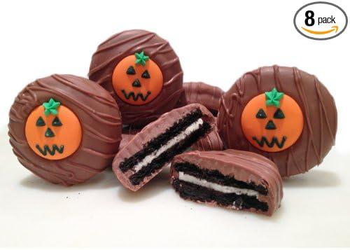 Philadelphia Candies Milk Chocolate Covered OREO Cookies, Halloween Pumpkin 8 Ounce