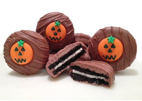 Philadelphia Candies Milk Chocolate Covered OREO Cookies, Halloween Pumpkin 8 Ounce