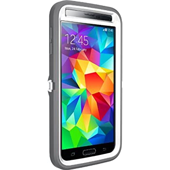 Otterbox [Defender Series] Samsung Galaxy S5 Case - Frustration-Free Packaging Protective Case for Galaxy S5  - Glacier (White/Gunmetal Grey)
