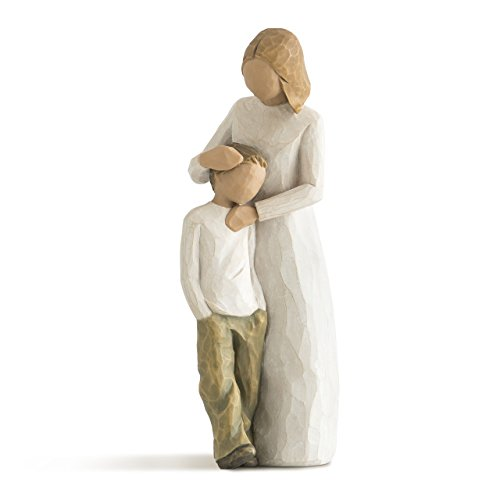 Willow Tree hand-painted sculpted figure, Mother and (Mother Son Statue)