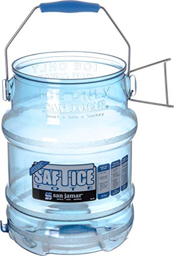 (San Jamar Shorty Saf-T-Ice Commercial Ice Tote, 5 gal, (1)