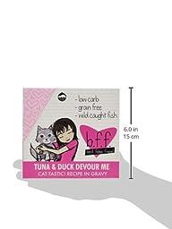 WERUVA 784225 12-Pack Best Feline Friend Tuna/Duck Devour Me Gravy Cat Food, 3-Ounce