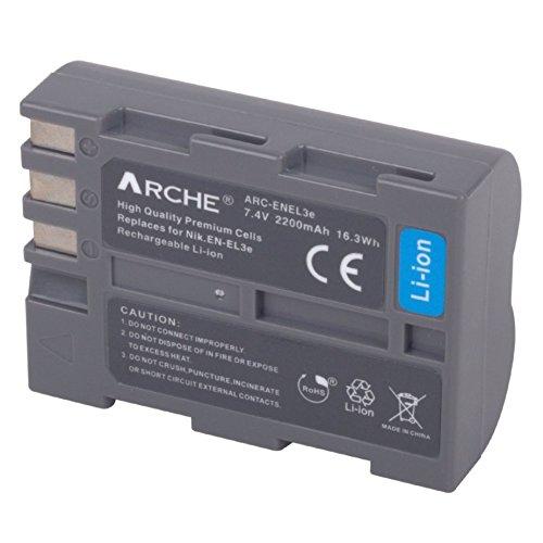 D70s Pack Battery (ARCHE EN-EL3 EN-EL3e EN-EL3a <1 Pack> Replacement Battery for [Nikon D50 D70 D70s D80 D90 D100 D200 D300 D300S D700])