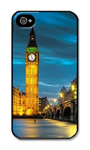 iPhone 4 Case,iPhone 4S Case,VUTTOO Stylish Amazing Belfry Night Hard Case For Apple iPhone 4/4S - PC Black