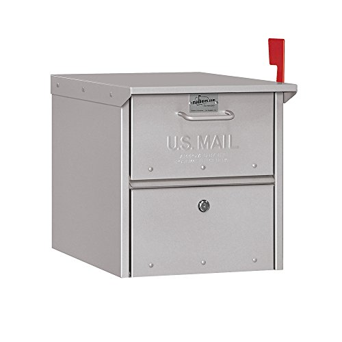 Roadside Mailbox, Silver - Locking Mailbox Usps Approved