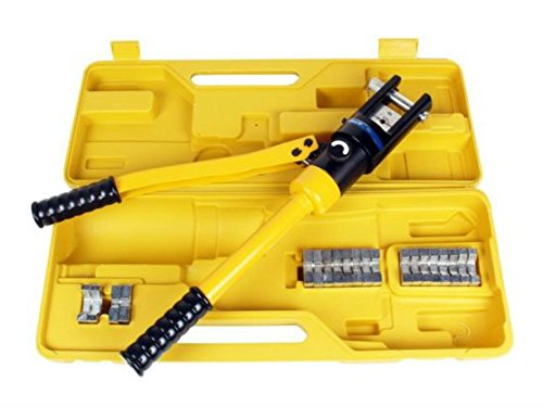 16 Ton Hydraulic Wire Crimper Crimping Tool Battery Cable Lug Terminal w/11 Dies by Unknown