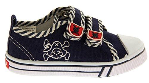 Y De Azul Pirata Niños Bandera Verano Lona Fonseca Cráneo Zapatos qpWUcfq