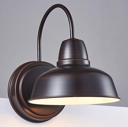 Amabao Lighting, 1-Light Barn Light, Oil Rubbed Bronze sconces Wall Lighting, Industrial Bathroom Vanity Lighting