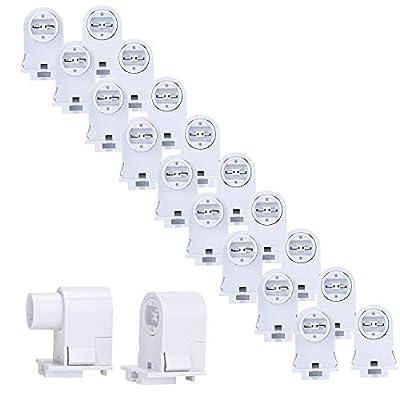 10 Pairs T8/T10/T12 Single Pin Slimline FA8 Tombstone Base LED Tube Light Replacement Fluorescent Plunger Lampholder Socket White