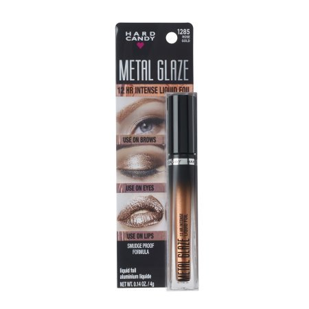 Hard Candy Metal Glaze Intense Liquid Foil, #1285 Rose Go...