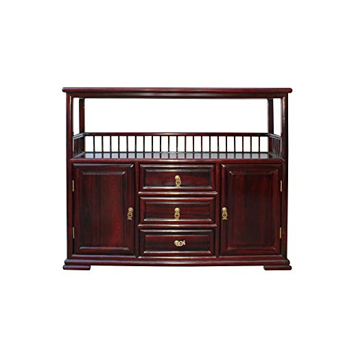 Chinese Brown Rosewood Credenza Console Side Table Cabinet Acs4533 (Rosewood Credenza)