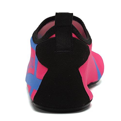 EQUICK Frauen Wasser Schuhe Quick-Dry Verschnaufpause Sport Haut Schuhe Barfuß Anti-Rutsch-Multifunktionssocken Yoga Übung 0pink