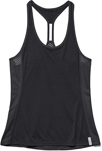 Under Armour Fly by Stretch Mesh Women's Tank - AW15 - Large - Black