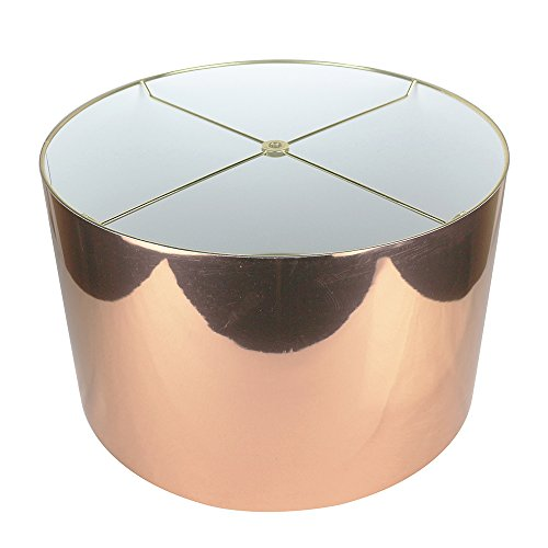 Urbanest Classic Drum Metallic Lampshade, 16-inch by 16-inch by 10-inch, Copper (Lamp Finials Copper)