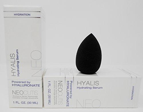 Neocutis Hyalis 30 Ml, 1-ounce (2-Pack) ,Anti-Aging Cosmetic Blender Sponge Bundle. by Neocutis Hyalis