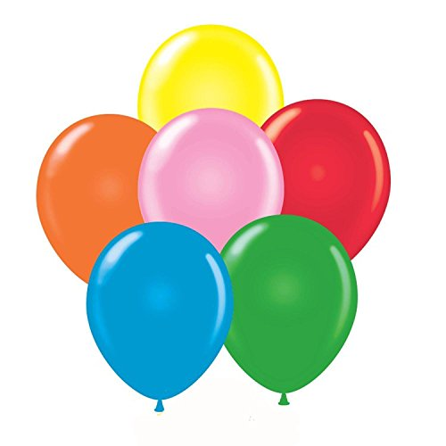 24 Inch Standard Assortment Latex Balloons (Premium Helium Quality) Pkg of 10 (Balloons Standard Latex Assortment)