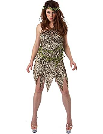 Awesome Adult Sexy Cavewoman  Jungle Jane Ladies Fancy Dress Hen