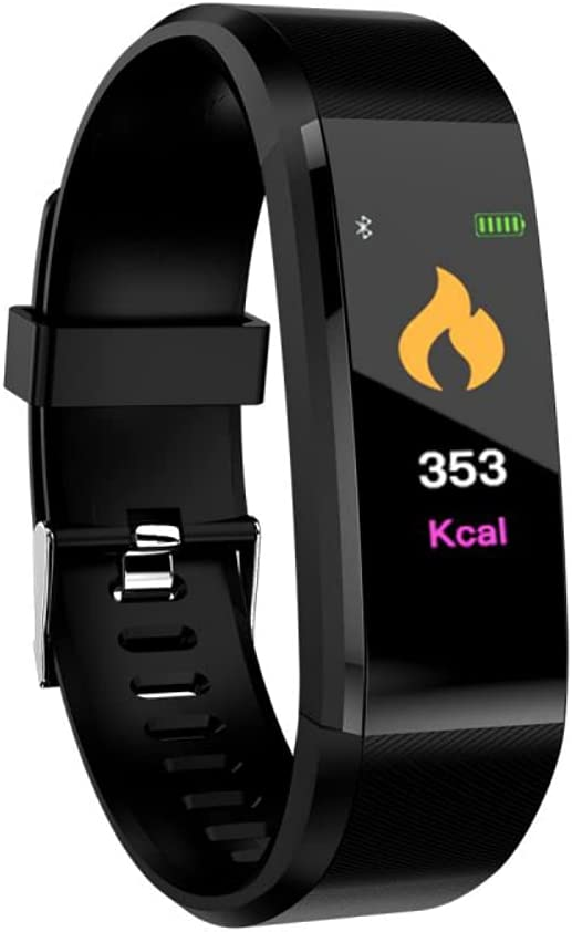 Smart Wristband Fitness Tracker Waterproof Activity Tracker with Heart Rate 115 Plus Blood Pressure Monitor,Pedometer Watch for Kids Women Men